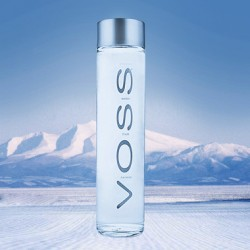 VOSS挪威芙丝天然无气矿泉水(玻璃瓶) 375ml瓶 进口 矿泉水