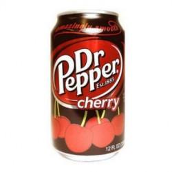 美国进口-Dr.Pepper胡椒博士汽水樱桃味 持续热卖 355ml*12罐/箱