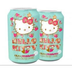 拉脱维亚 进口限量正品饮料HelloKitty草莓可乐味碳酸汽水 纪念版