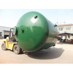 100吨碳钢衬胶石英砂过滤器,汇泉公司专业制造,供货快,质量优