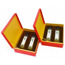 西班牙进口特级初榨橄榄油500ml*2豪华木盒礼盒装 中秋送礼佳品