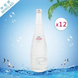 Evian依云天然矿物质纯净矿泉水 750ml*12玻璃瓶代理低价批发市场