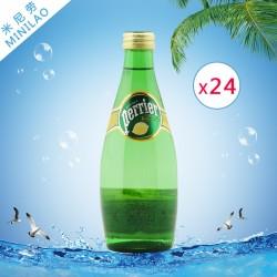 含气天然矿泉水 Perrier柠檬巴黎水玻璃瓶330ml*24瓶整箱批发代理