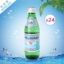 供应圣培露进口天然含有气泡饮用矿泉水250ml*24 正品批发 代理