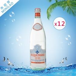 批发 普娜750ML*12玻璃瓶天然无气矿泉水 原装进口饮用水整箱代理