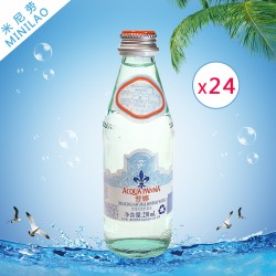 批发 普娜无气矿泉水 意大利进口高档天然饮用水250ml*24瓶代理价