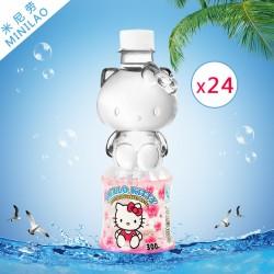 HelloKitty造型饮用天然健康饮料纯净水矿泉水批发300ml*24支整箱