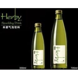 禾碧气泡水饮料 禾碧无糖(青柠味)330ml*12瓶 玻璃瓶(整箱发货)