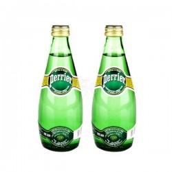 法国原装进口 Perrier 法国巴黎矿泉水330ml*24瓶天然含汽矿泉水