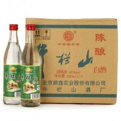 正品白酒特价 白酒牛栏山 陈酿42度 陈酿 白瓶500ml*12 瓶二锅头