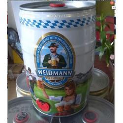 德国原装进口啤酒 威德曼原浆 小麦 白啤酒 5L 桶装