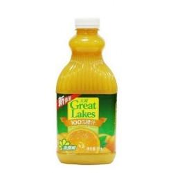 100%纯 饮料 大湖 果汁—1L橙汁 12桶/箱