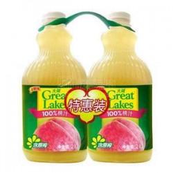 100%纯饮料 大湖 饮料 果汁——2L装 桃子汁 6桶/箱