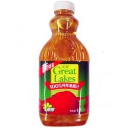 100%纯饮料 大湖 饮料 果汁——1L装 苹果汁 12桶/箱