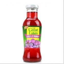100%纯饮料 大湖 饮料 果汁——255ml装 苹葡汁 24瓶/箱
