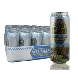 德国原装进口啤酒 威德曼原浆小麦 白啤酒 500ml*24听(整箱发货)