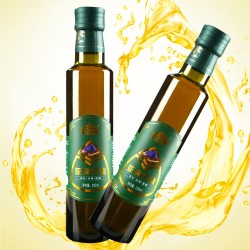 冷初压榨脱蜡纯亚麻籽油 250ml 纯天然有机亚麻籽油
