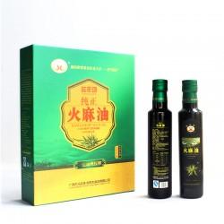 广西巴马特产野生火麻油高端养生食用油礼盒装送礼佳品厂家直销