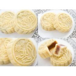 12年月饼厂家直销 100g卷膜包装芸豆薄荷味黑芝麻味冰皮月饼定制