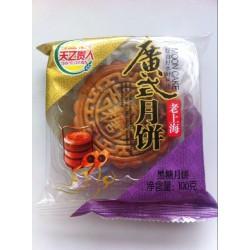 新品中秋月饼 100g黑糖口味广式月饼 厂家月饼批发团购 一箱36个