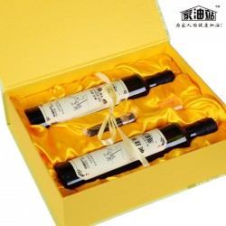 内蒙古家油站牌 亚麻籽油礼盒 两瓶装 团购送礼 非转基因 胡麻油