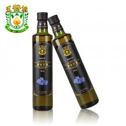 内蒙古特产 非转基因冷榨 黄金亚麻籽油500ml 纯天然月子油