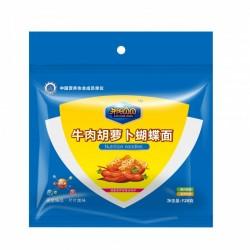 牛肉胡萝卜营养面 宝宝辅食 牛肉胡萝卜蝴蝶面 消化开胃