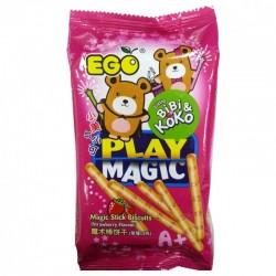 台湾进口婴儿零食 EGO 小美与小可魔术棒饼干3味批发 80g 48包/箱