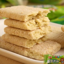 台湾进口零食 北田多米熊燕麦米饼蔬菜口味100g 幼儿米饼 非油炸