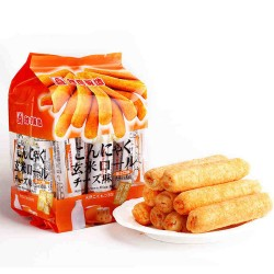 台湾进口北田蒟蒻糙米卷蛋黄/卵黄 海苔牛奶芝士巧克力味12包/箱