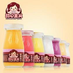 总代批发 甜心主义鲜果布丁果冻 玻璃瓶 100g  多口味 20瓶/箱