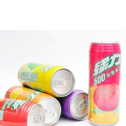 整箱批发 台湾绿力系列果汁饮料490ml*24听/箱 9个口味 热销食品