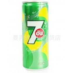 泰国进口 百事可乐 七喜柠檬味饮料 罐装 245ml*24听/件