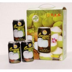 泰国进口饮料 T.A.S正宗泰国新鲜椰子汁椰汁 一箱12瓶 整箱价格