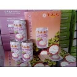 泰国进口饮料 T.A.S正宗泰国新鲜椰子汁山竹味礼盒装 12瓶/箱