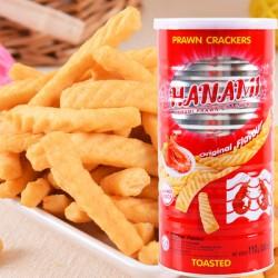 泰国进口卡乐美大罐虾条原味香辣海苔超好吃膨化食品110g 12桶/箱