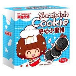 米兹米兹夹心小黑饼 牛奶曲奇女生曲奇含漫画集饼干零食24盒/箱