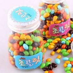 香港进口佐敦葵花籽巧克力代可可巧克力豆60g 糖果巧克力12瓶/盒