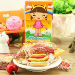 泰国进口GUBBI戈比女孩水果派对QQ糖橡皮糖软糖糖果100克24盒/箱