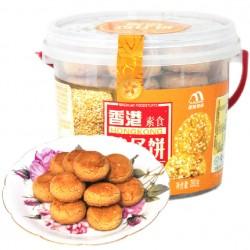 香港传统美食鸡仔饼腰果味榛子味曲奇饼干小吃点心280克12桶/箱