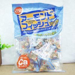 日本进口零食天六加钙杏仁小鱼干含丰富钙质75G宝宝最爱 10袋/箱