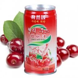 韩国监制 宝力素自然因樱桃汁香蕉牛奶果汁饮料 180ml*15听装