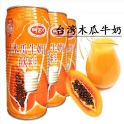 台湾进口 阿莎力木瓜牛奶 奶味饮料饮品  500ml*24听/箱
