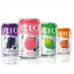 RIO/锐奥 朗姆预调鸡尾酒 罐装4种口味洋酒 330ml*24罐