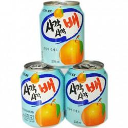 韩国进口 lotte乐天梨子果粒饮料 原味果肉果汁饮品 238ml*12罐
