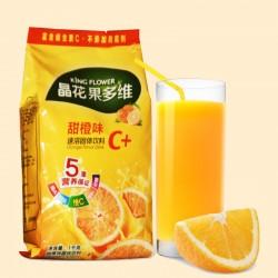 珍珠奶茶原料批发 固体饮料粉 晶花果多维C+甜橙 1kg