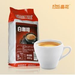 晶花白咖啡 三合一速溶白咖啡粉批发800g装