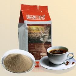 咖啡 珍珠奶茶原料批发 晶花三合一速溶咖啡粉800g装