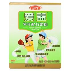 三元爱益学生配方奶粉400g 补钙有营养健康奶粉 即食奶粉厂家批发