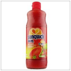 新的草莓汁 浓缩果汁水果饮料\新的草莓番石榴840ML